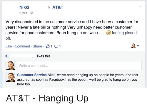 Nikki AT&T 6 Hrs Very Disappointed in the Customer Service and L ...