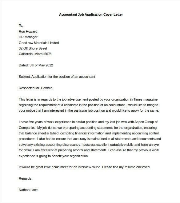 Cover Letter Template Doc | articleezinedirectory