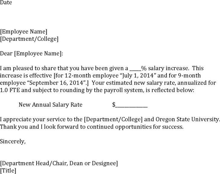 Sample Increment Letter Download Sample Request Letter For Salary – Pay Raise Letter Template