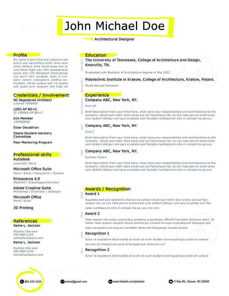 166 best Resumes - Architecture/Interior Design/Graphic Design ...