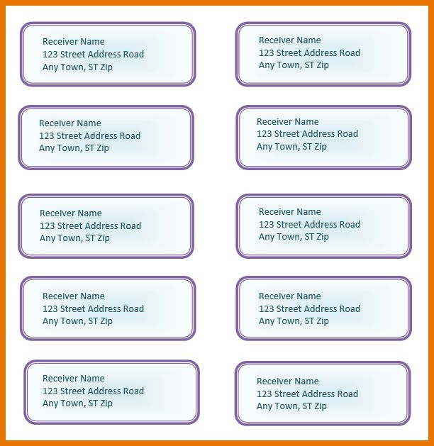 6+ address label template word   Itinerary Template Sample
