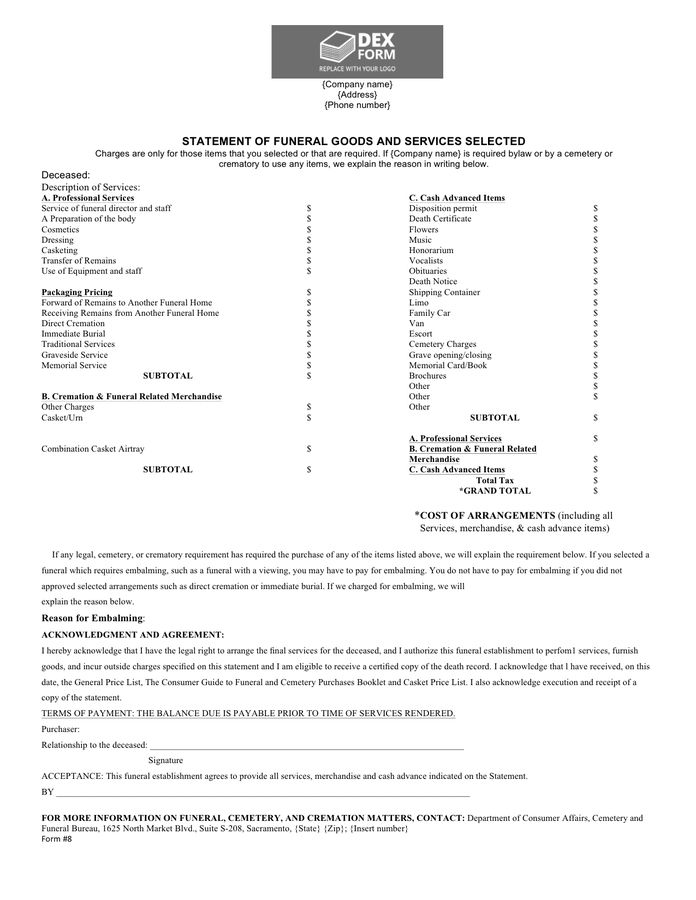 Billing Statement Template - download free documents for PDF, Word ...