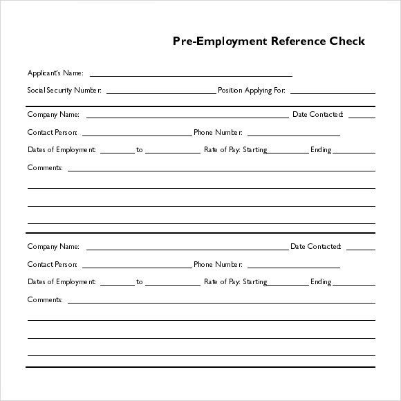 Sample Reference Check Template - 14+ Free Documents in PDF , Word ...