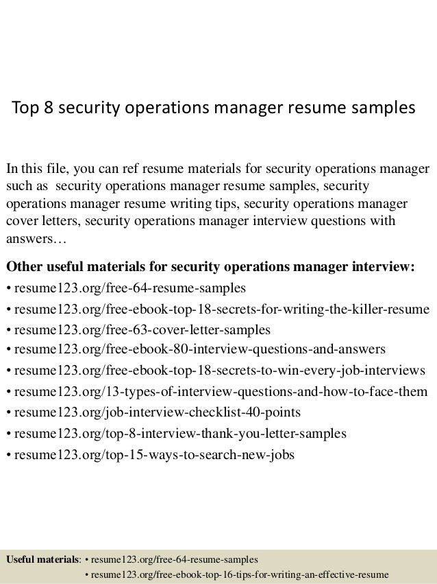 operation manager resume examples unforgettable operations