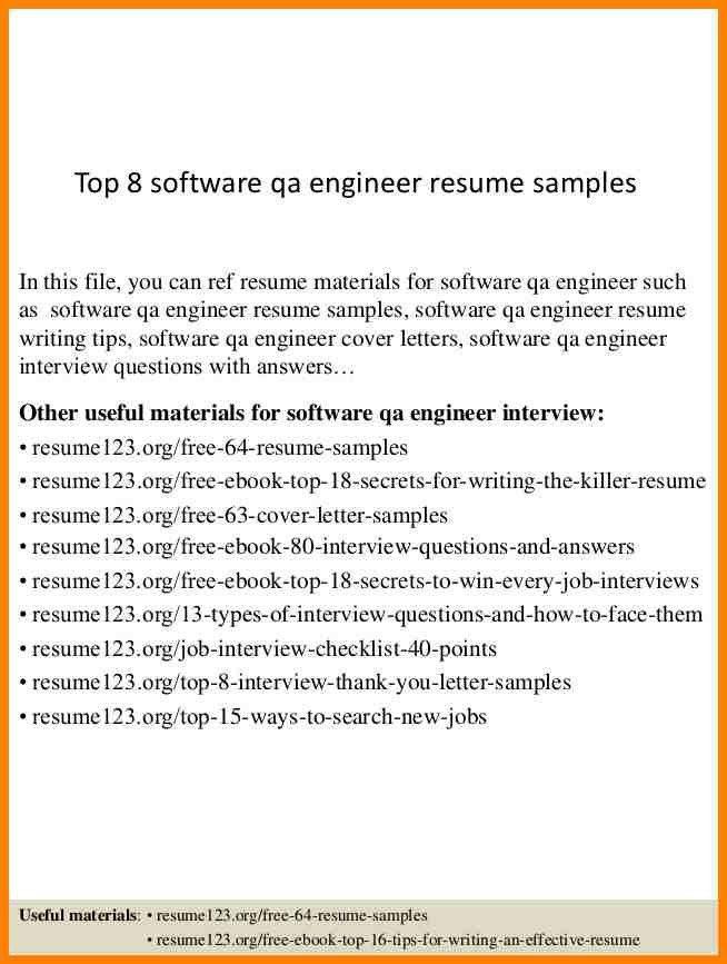 6+ qa engineer resume | latest cv format