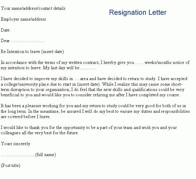 letter of resignation template wordresignation letter example jpg ...