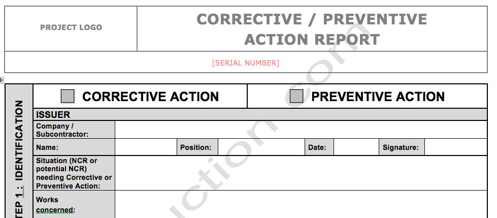 DOWNLOAD: CAR/PAR Form (Corrective or Preventive Action Report ...