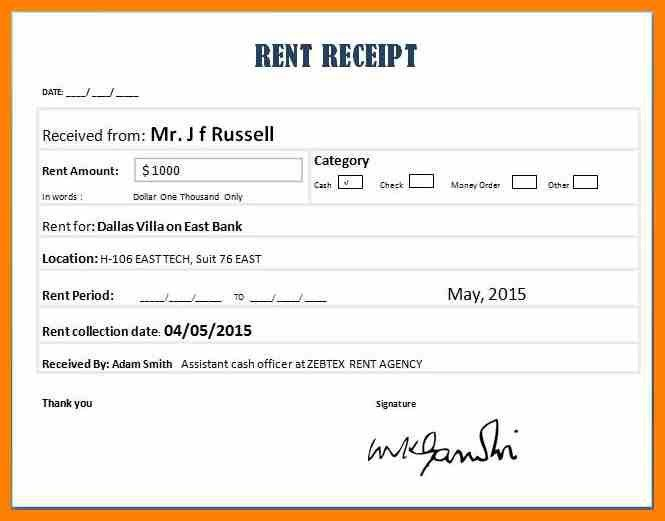 Beautiful Rent Slip Gallery - Best Resume Examples for Your Job ...