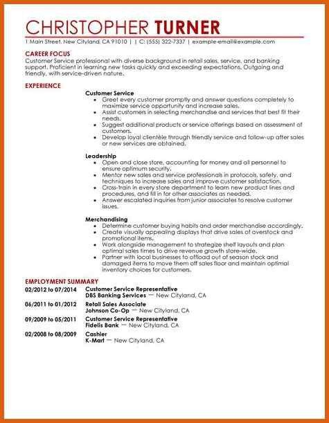 customer service resume examples | apa examples