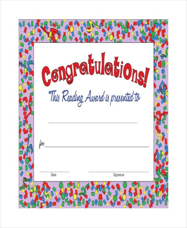 11+ Congratulations Certificate Templates - Free Sample, Example ...