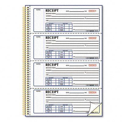 Rediform Gold Standard™ Money Receipt Book