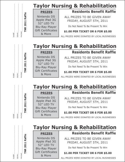 Raffle Ticket Templates - Large Raffle Ticket Templates - 3