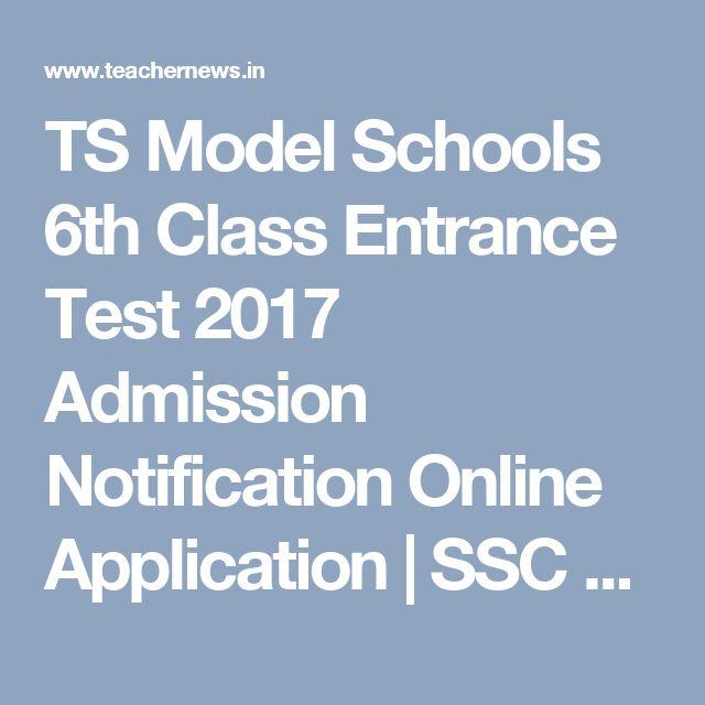 TSRJC CET 2017 Notification, Online Application form | TS ...