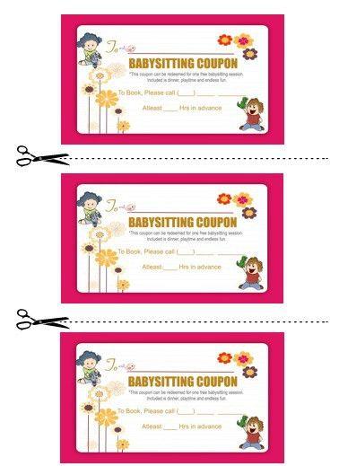 20+ Free Printable Babysitting Coupon Book Templates - Demplates