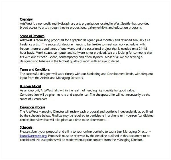 Graphic Design Proposal Template | Template Idea