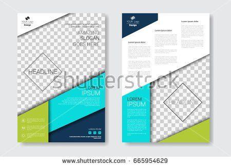 Template Design Brochure Annual Report Magazine Stock Vector ...