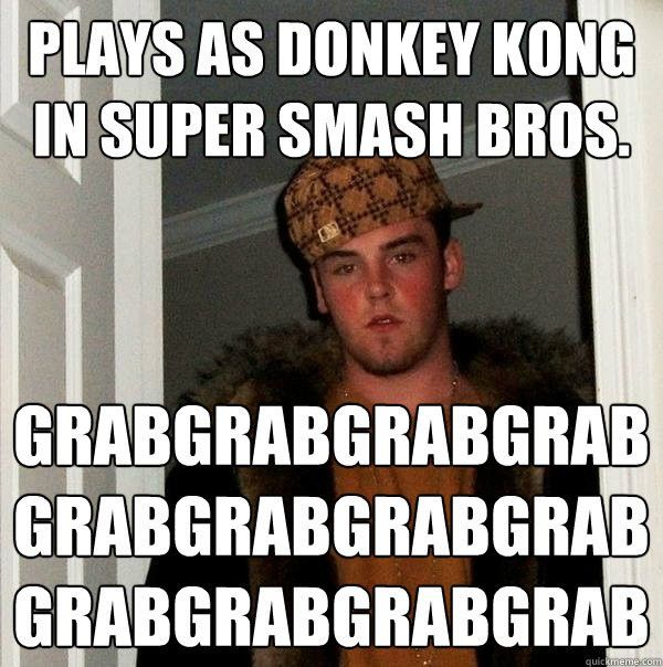 Plays as Donkey Kong in Super Smash Bros ...