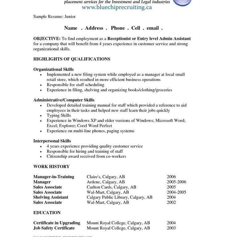 Sample Resume Objective | haadyaooverbayresort.com