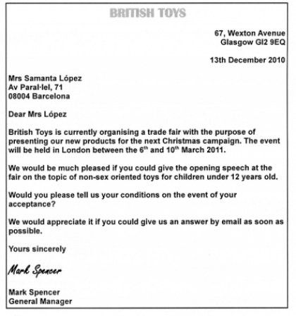 Business Letter Opening | The Letter Sample