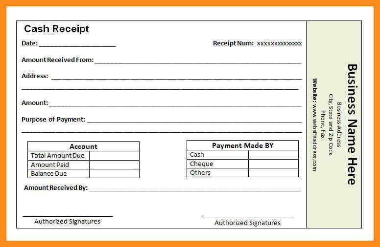 10+ cash received template | resume setups
