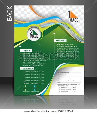 Tennis Competition Front Flyer Template Stock Vector 159325238 ...