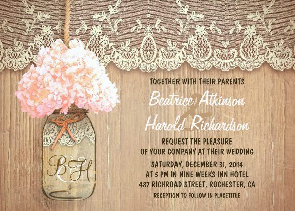 25+ Rustic Wedding Invitation Templates – Free Sample, Example ...