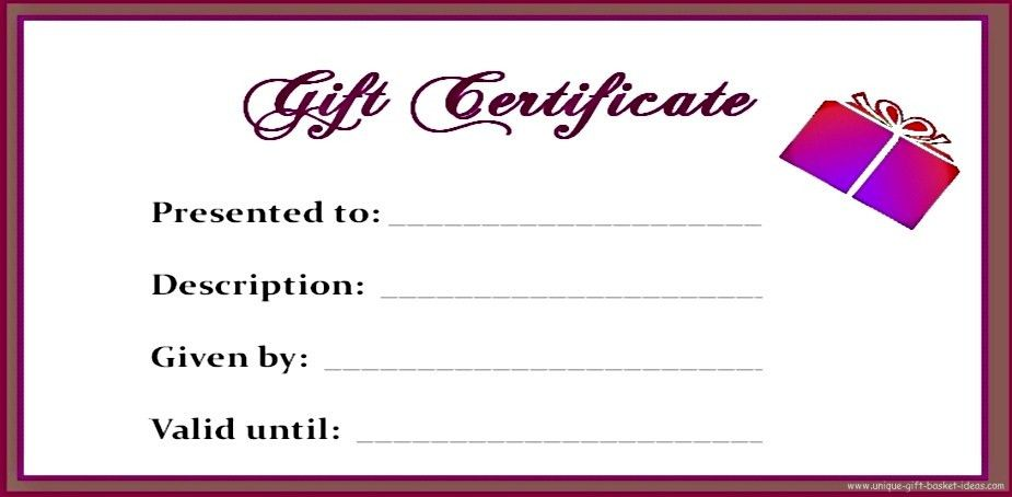Free Printable Blank Gift Certificates