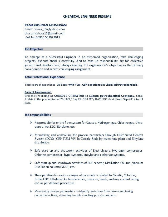chemical engineer resumes chemical engineer resume template 6