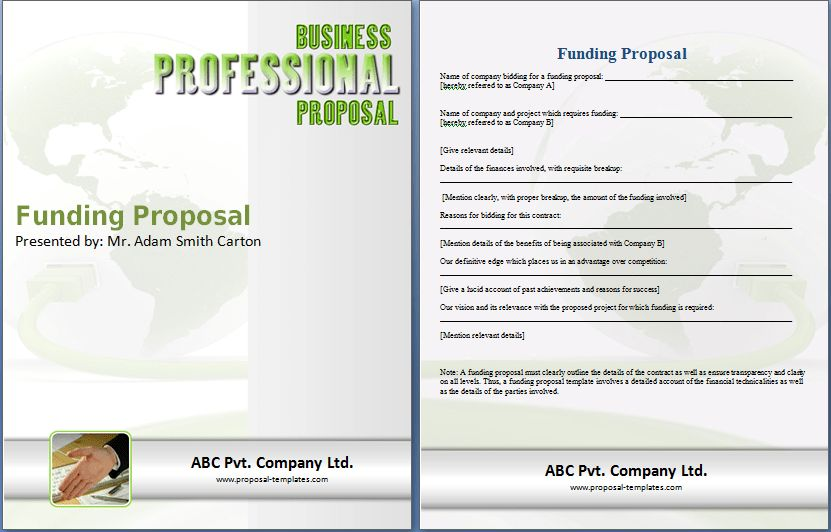 Sample Funding Proposal Template | Proposal Templates