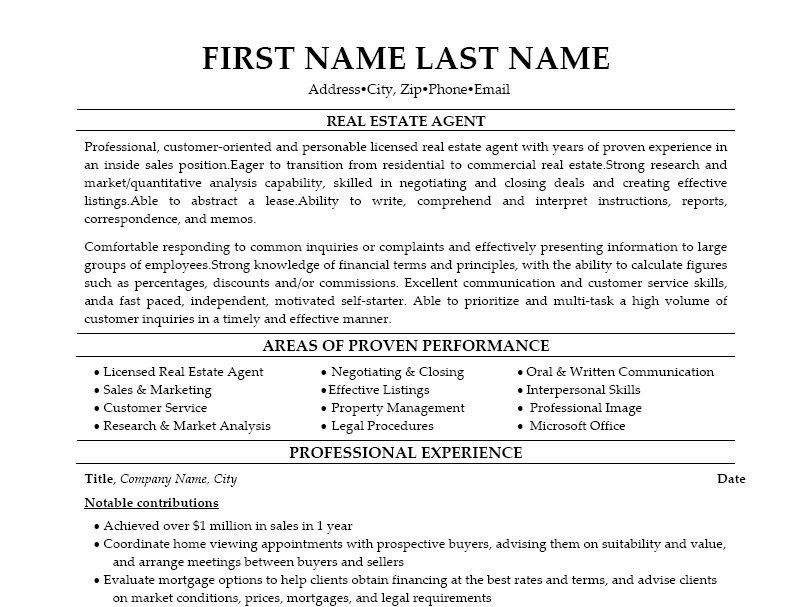 Real Estate Resume. Real Cover Letter Examples The Best Letter ...