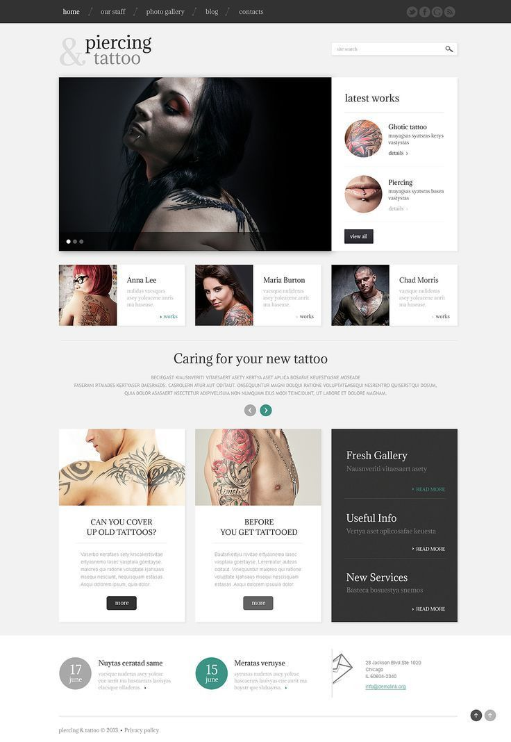 59 best Tattoos Web Templates images on Pinterest | Wordpress ...