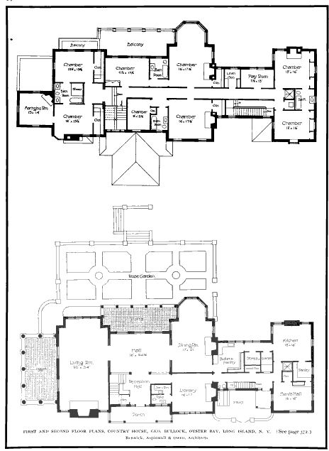 Villa mille fiore gilded age mansions pinterest for Long house floor plans