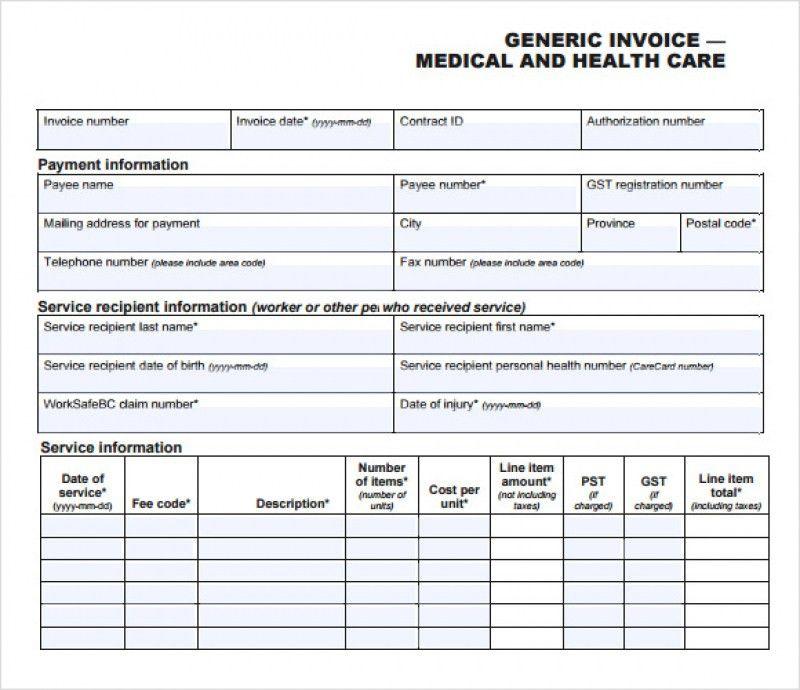 Sample Medical Invoice | rabitah.net