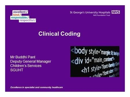 Clinical Coding Service Manager - ppt video online download