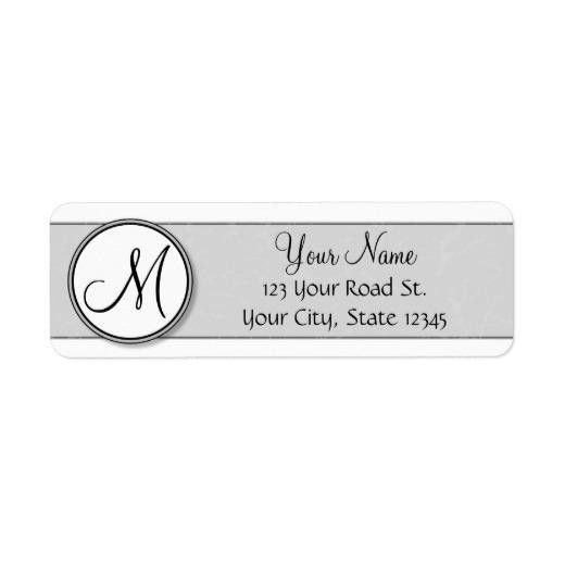 Customizable Split Monogram Seal Template Custom Return Address ...
