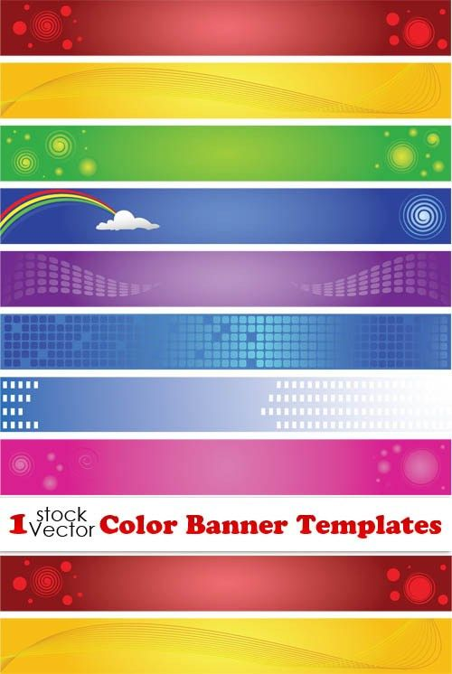 Elements of Color Banner Templates Vector - Vector Banner free ...