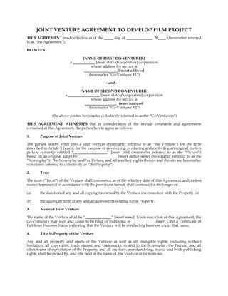 Co-Production Agreement for TV Series | Legal Forms and Business ...
