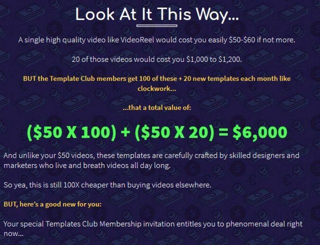 VideoReel Template Club Membership JVZoo | JVZOO BESTSELLER