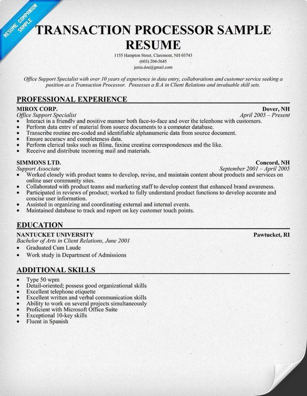 specimen processor resume processor resume resume cv cover letter ...