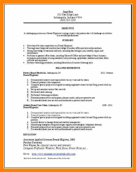 Hygienist Resume Templates. home design ideas 5 dental assistant ...
