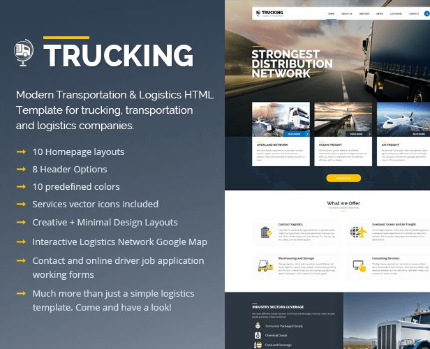 Trucking-Transportation & Logistics HTML Template by pixel-industry