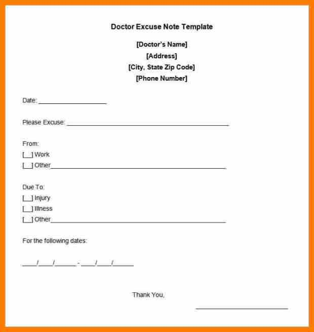 7+ doctor note template | resume pictures