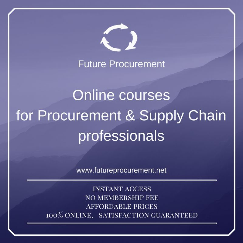 I LOVE PROCUREMENT because it is the best job in the world ...