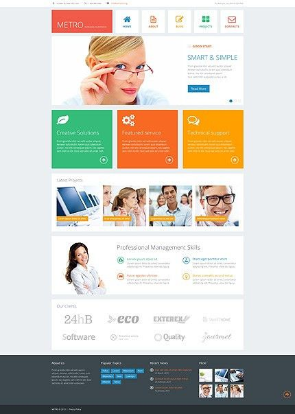 Template 44910 - Business Responsive WordPress Theme with ...
