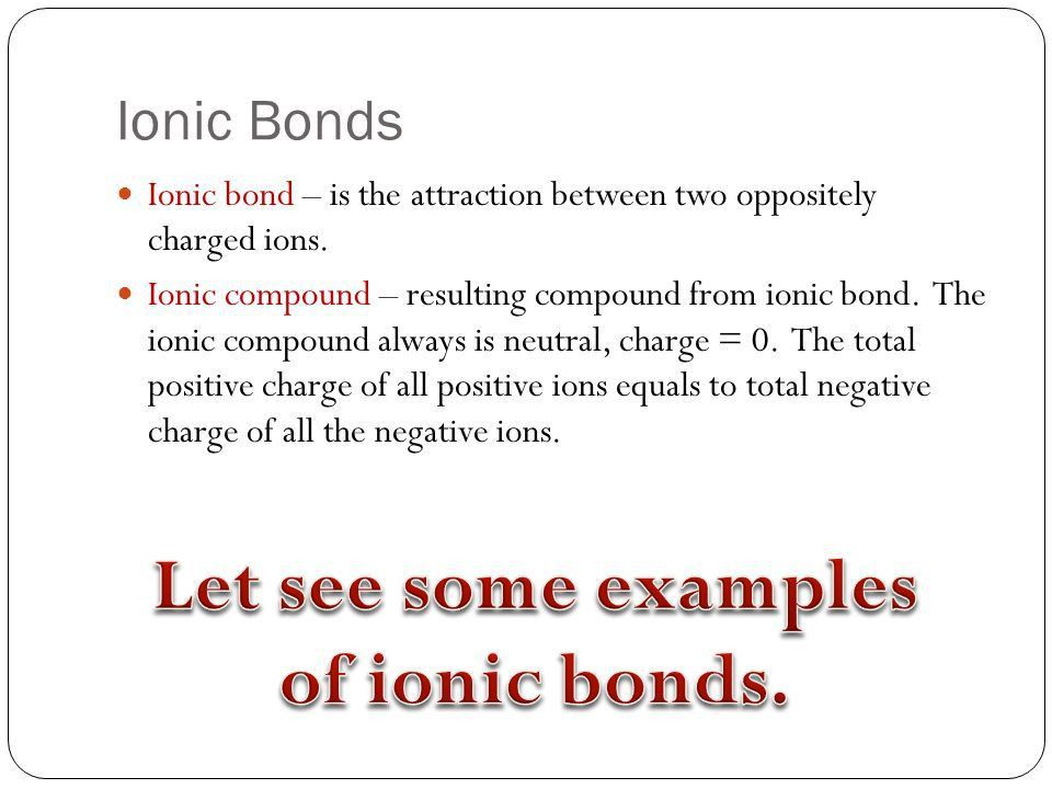 Atoms and Bonding Chapter 4 Unit – Introduction to the chemistry ...