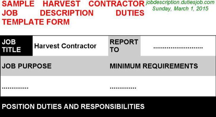 Contractor Job Description. General Contractor Resume Best General ...