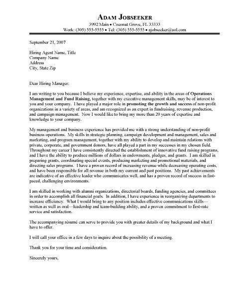 nonprofit cover letter sample non profit cover letter sample