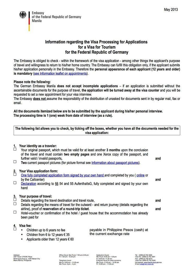 GERMAN VISA MANILA: How to Apply for Schengen Visa in the German ...
