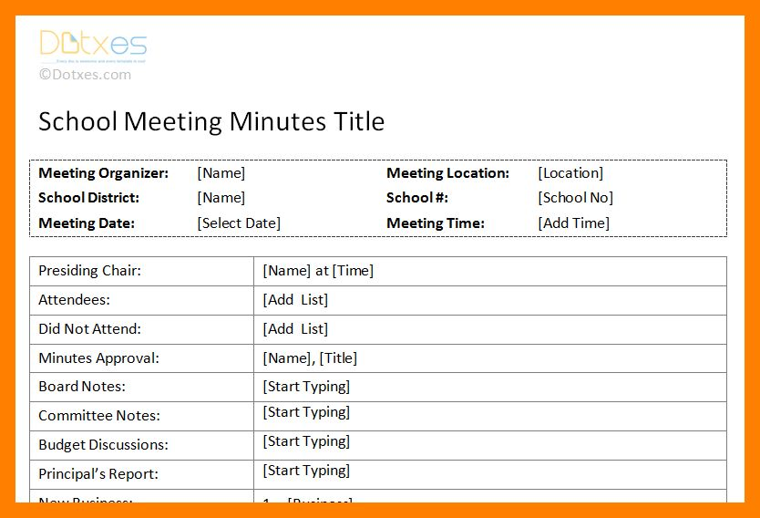 9+ format minute meeting | resumed job