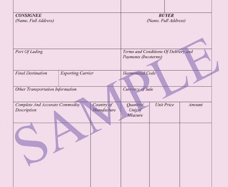 Commercial Shipping Invoice | Free Invoice